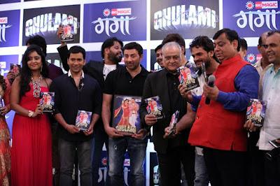 """Sunny Deol, Ravi Kishan, Dinesh Lal Yadav 'Nirahua' Subhi Sharma, Madhu Sharma at """"Ghulami"""" Music Launch"""