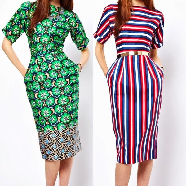 asos wiggle dresses