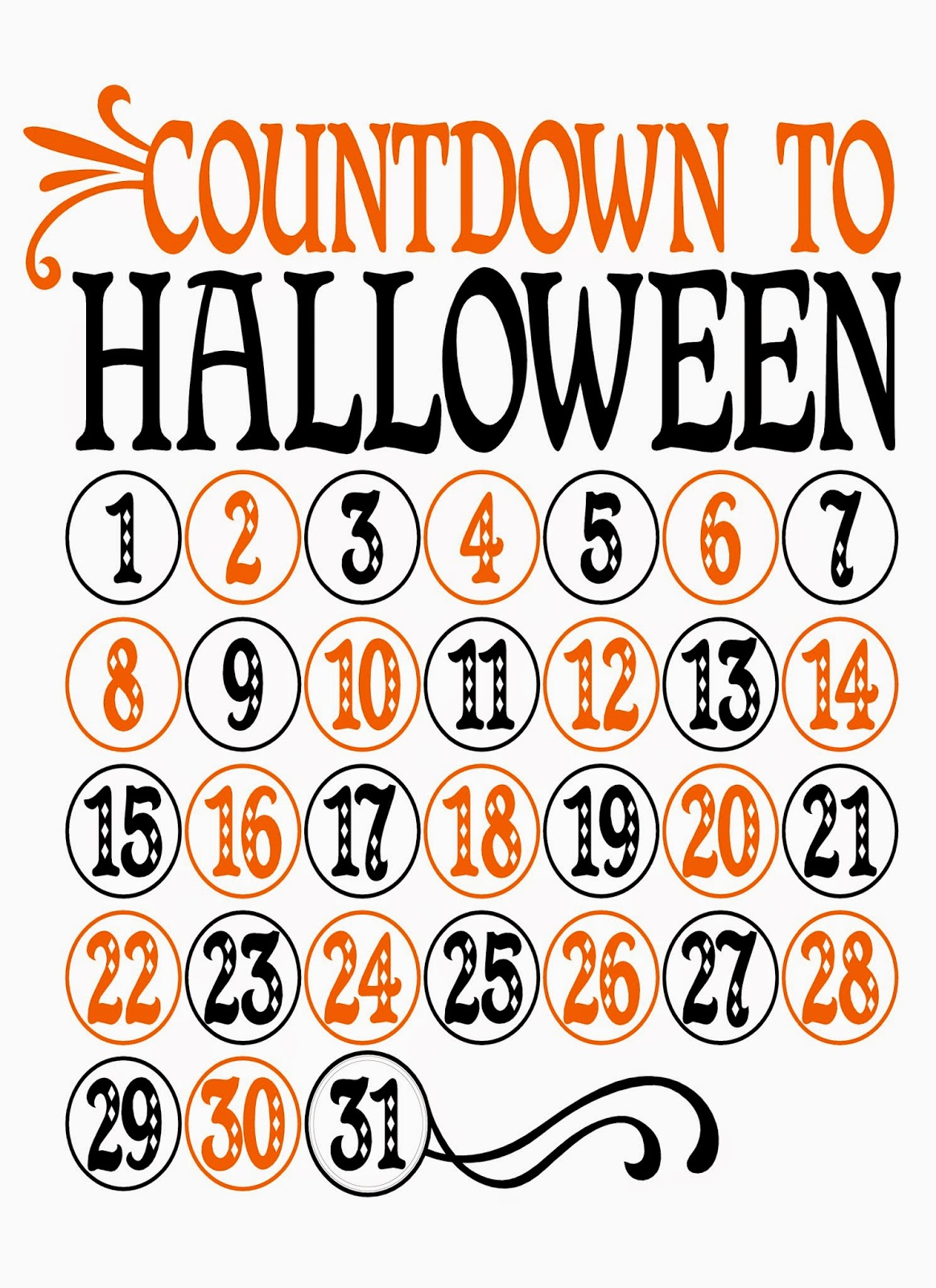 Halloween Countdown | Little Blue House