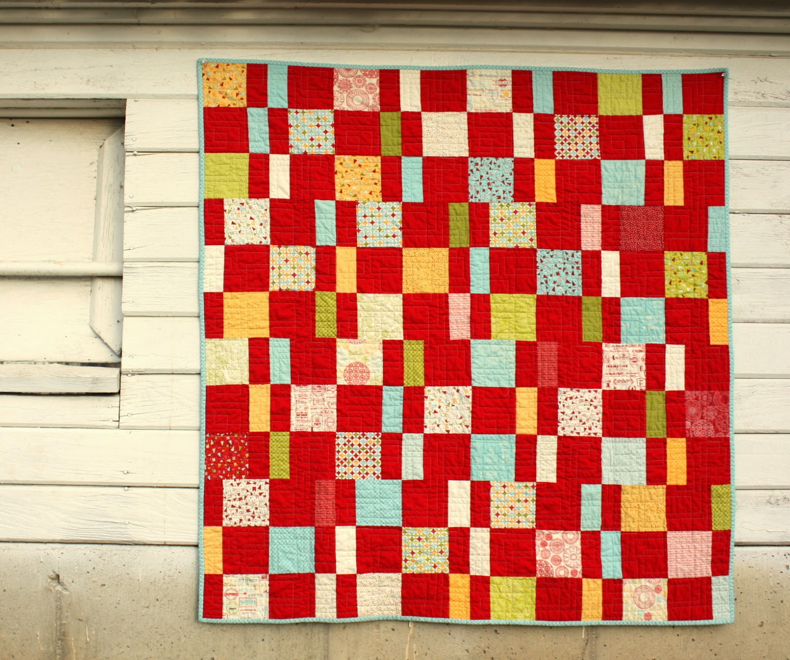 Charm Pack Cherry free quilt pattern - Diary of a Quilter - a quilt blog