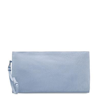 nubuck clutch bag