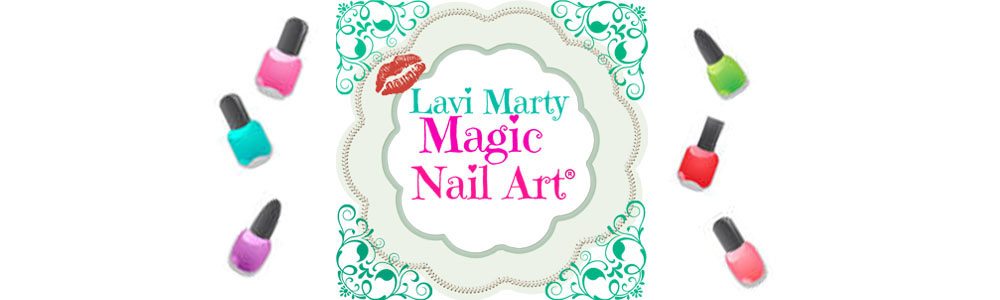 Lavi & Marty Magic nail art