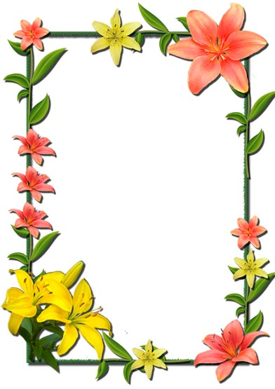Flower Borders and Frames