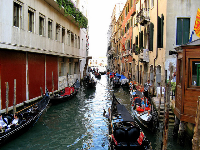 5 Top Tourist Attractions In Venice - A Gondola ride along the Grand Canal, Venice.