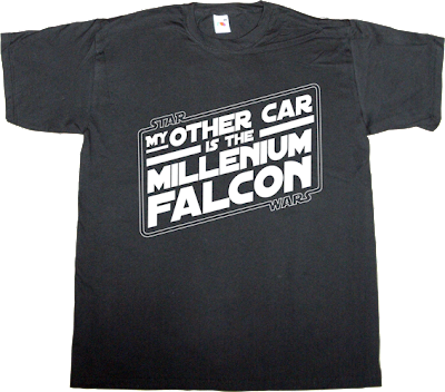 fun star wars millenium falcon t-shirt ephemeral-t-shirts