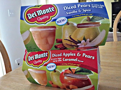 Del Monte Apples and Pears with Caramel Flavor and Pears with Vanilla and Spice