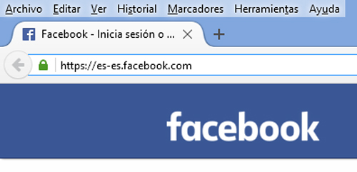 iniciar sesion Facebook en español