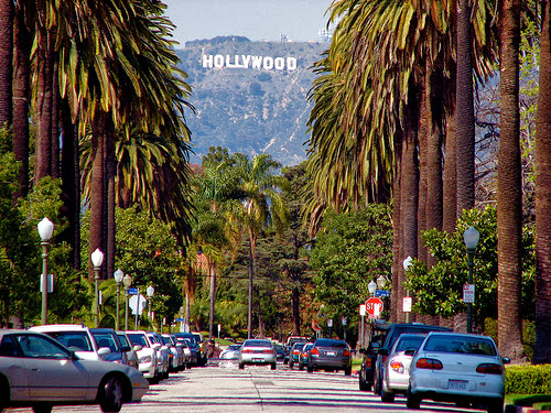 Playas, paseos, hollywood, Los Angeles, California
