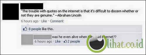 Era Abraham Lincoln Ada Internet?