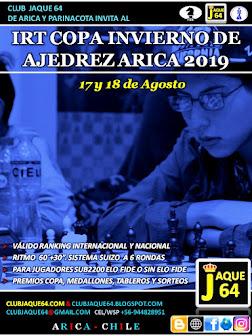 IRT COPA INVIERNO ARICA 2019, SUB 2200 FIDE