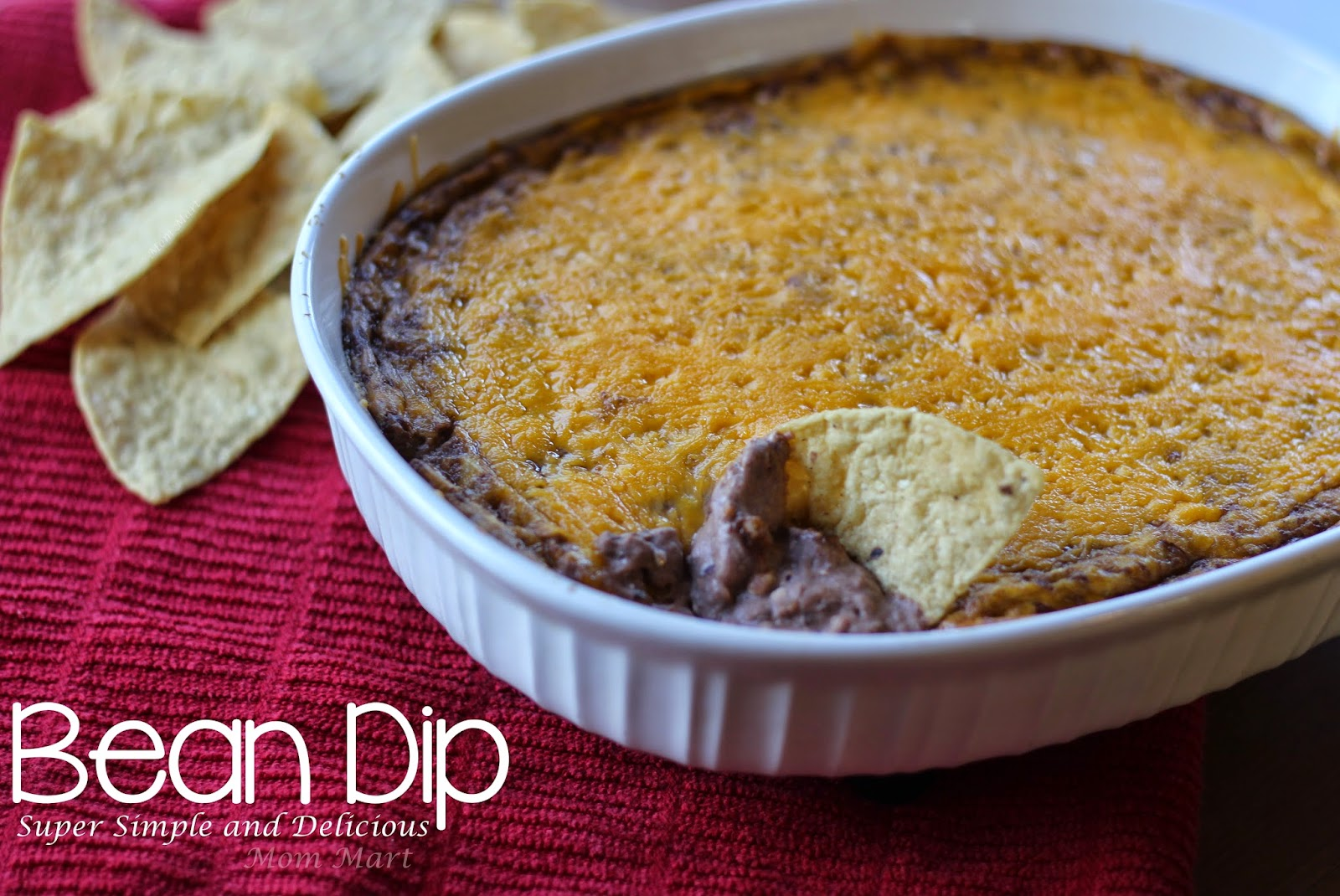 Bean Dip Recipe- Super Simple and Delicious #Recipe #Potluck #Appetizer