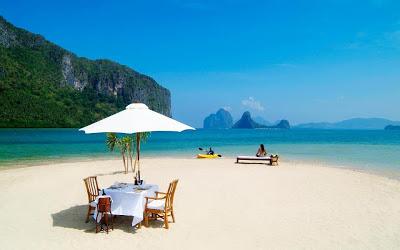 almuerzo en isla privada
