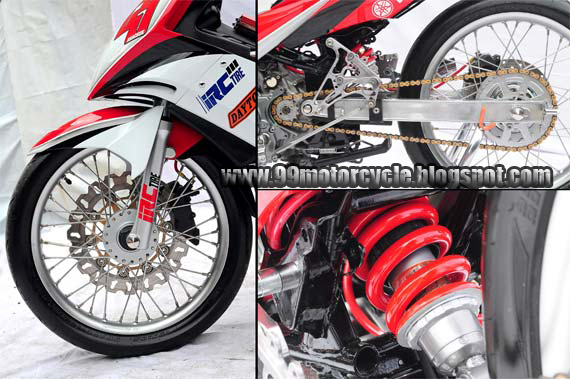 Modifikasi motor  Racing fashion Yamaha Jupter MX 135LC