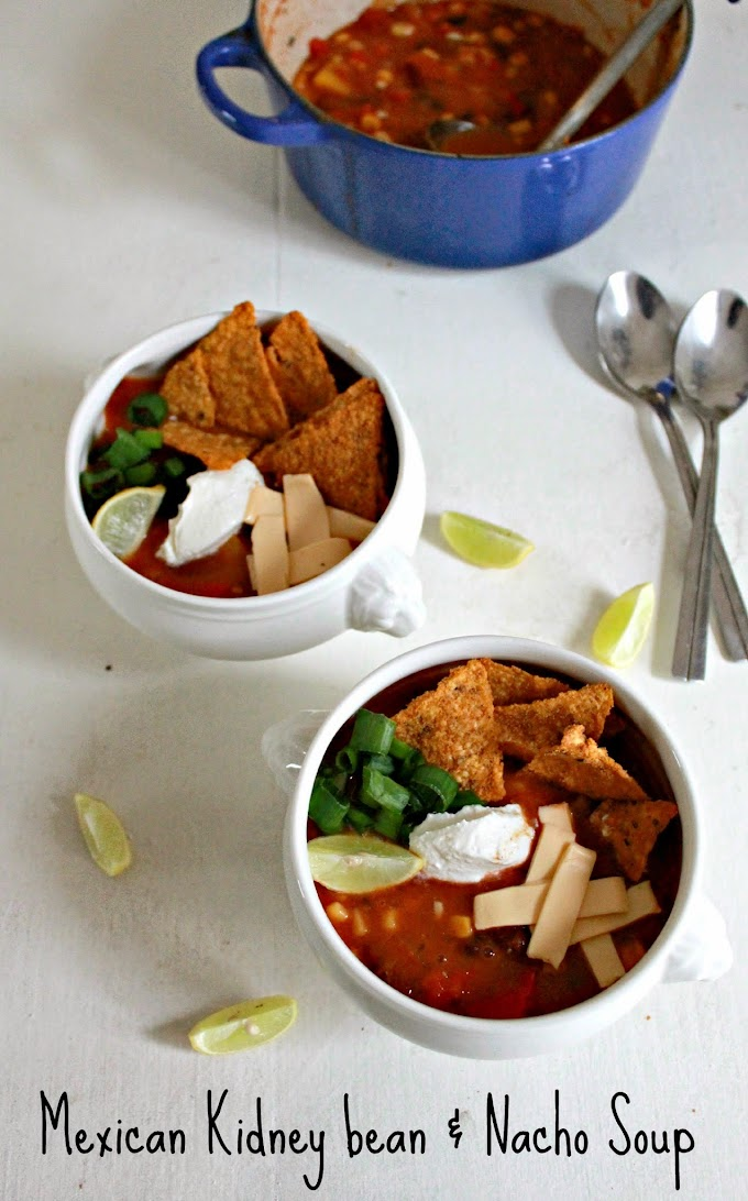 Contest Alert & Gadget Review I Mexican Kidney Bean and Nacho Soup with the Philips Soup Maker