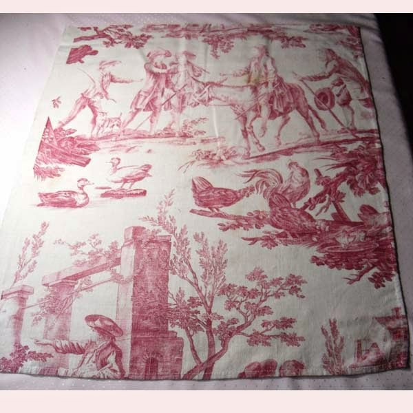 Rag rescue antique and vintage french toile fabric wednesday for French toile fabric