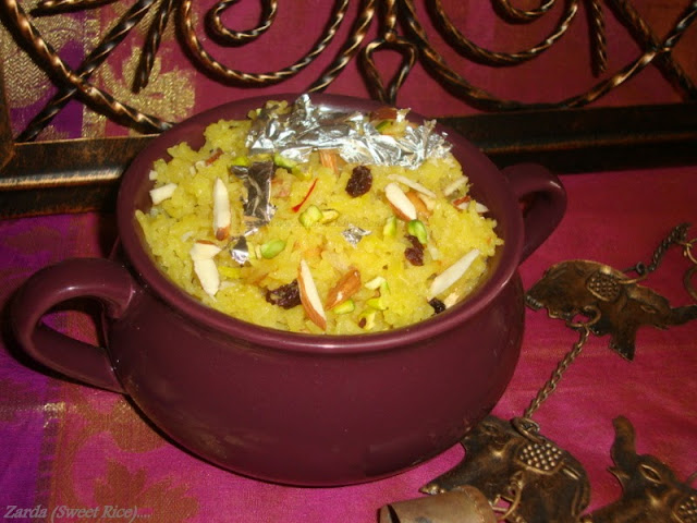images for Zarda Rice Recipe / Zarda Sweet Yellow Rice Recipe /Sweet Saffron Rice / Sweet Rice Recipe - Eid Special Recipe