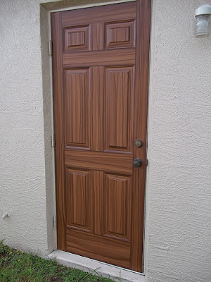 paint entry door to look like wood