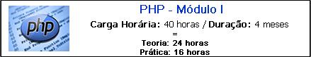 PHP MÓDULO I