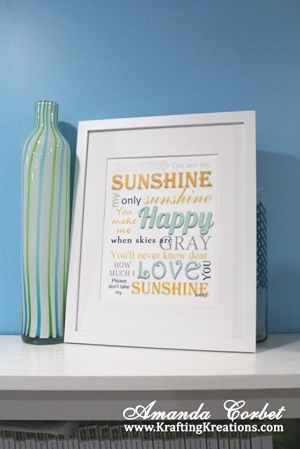 You are my Sunshine Printable