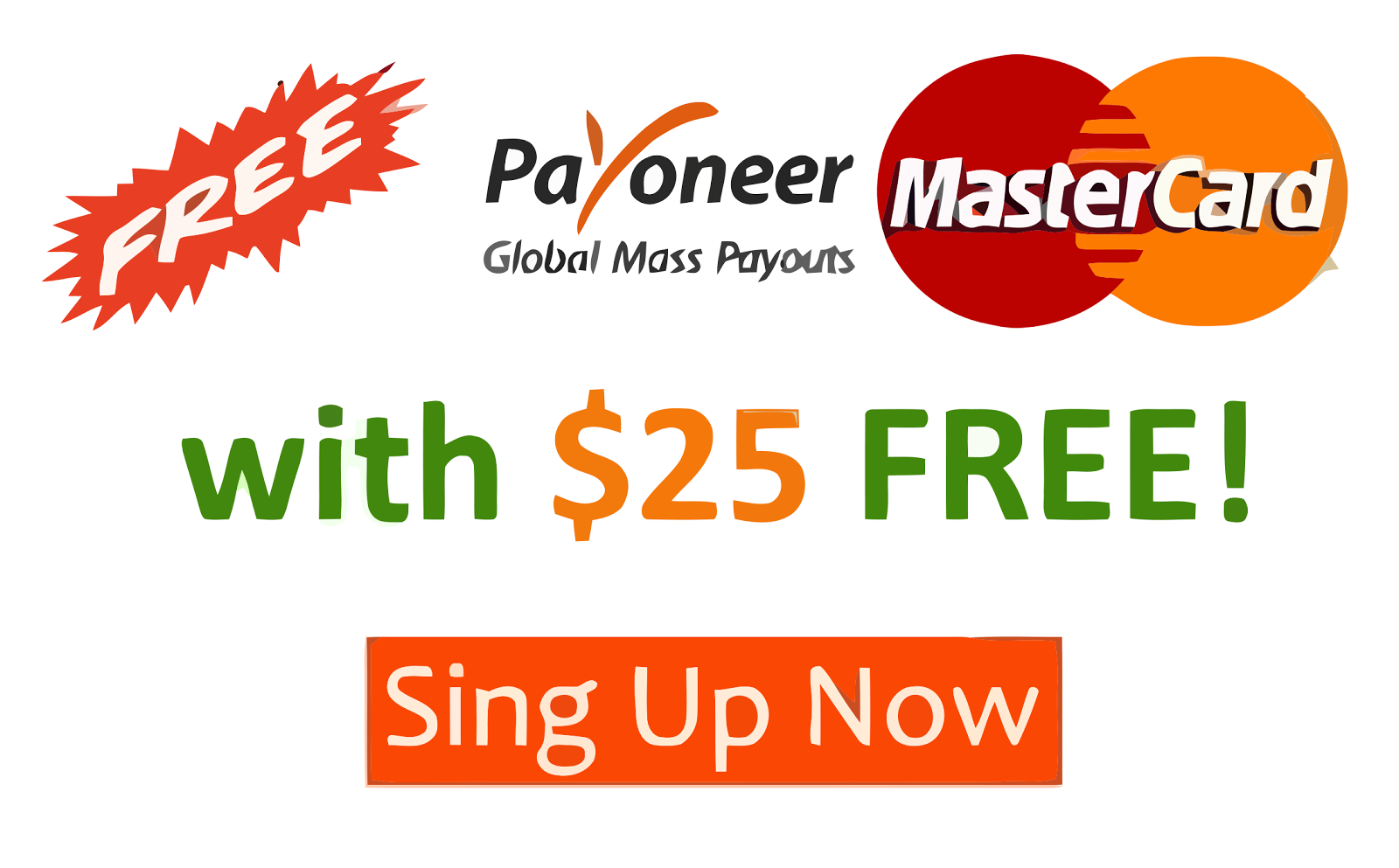 Free MasterCard with 25$