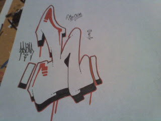 Graffiti Letter H Sketches Design