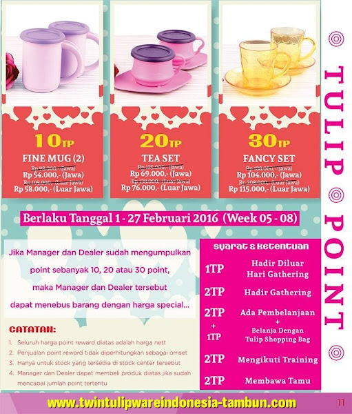 Tulip Point Reward Februari 2016