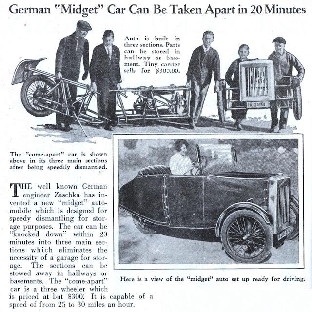 "German ""Midget"" Car Feb, 1930"