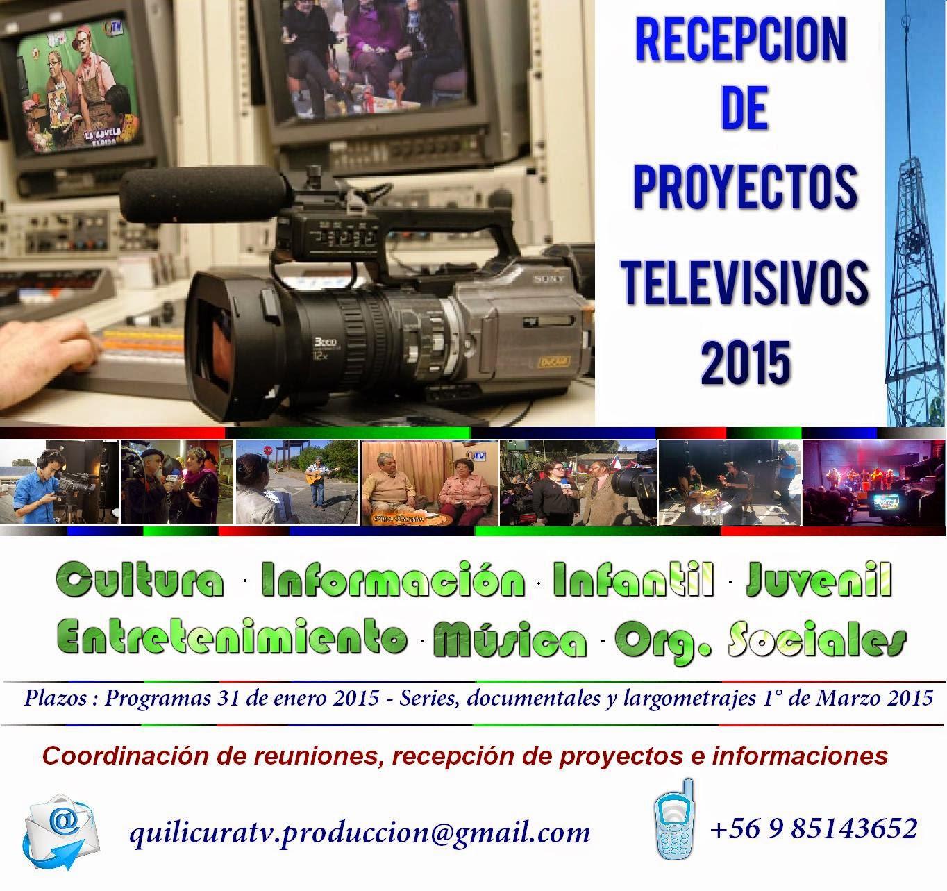 RECEPCION DE PROYECTOS TELEVISIVOS 2015