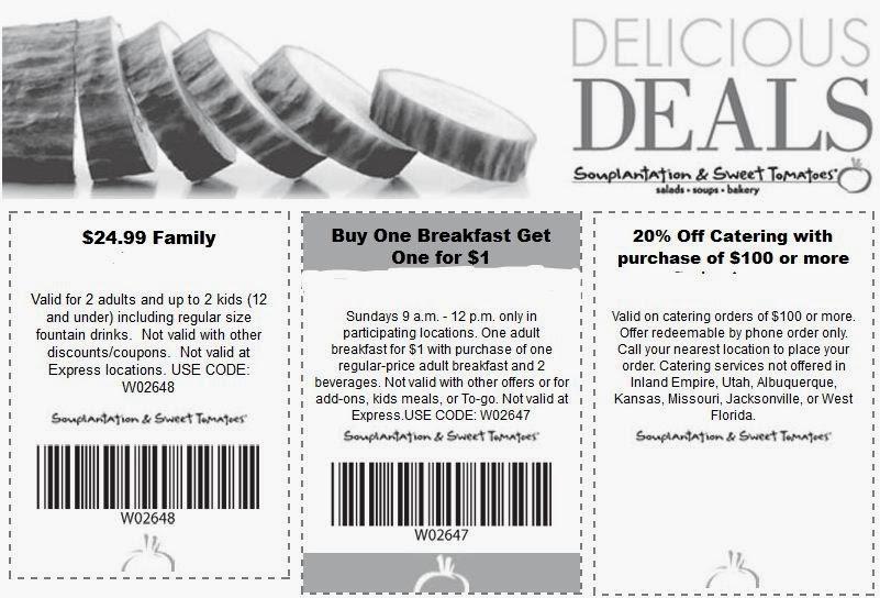Souplantation coupon 2018 may