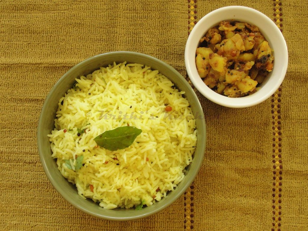 Krithi 39 s kitchen lemon rice with potato fry a classic for Indian potato recipes for lunch