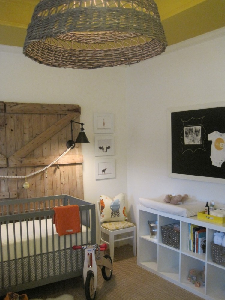 Custom nursery art by kimberly rustic nursery ideas for Babies decoration room