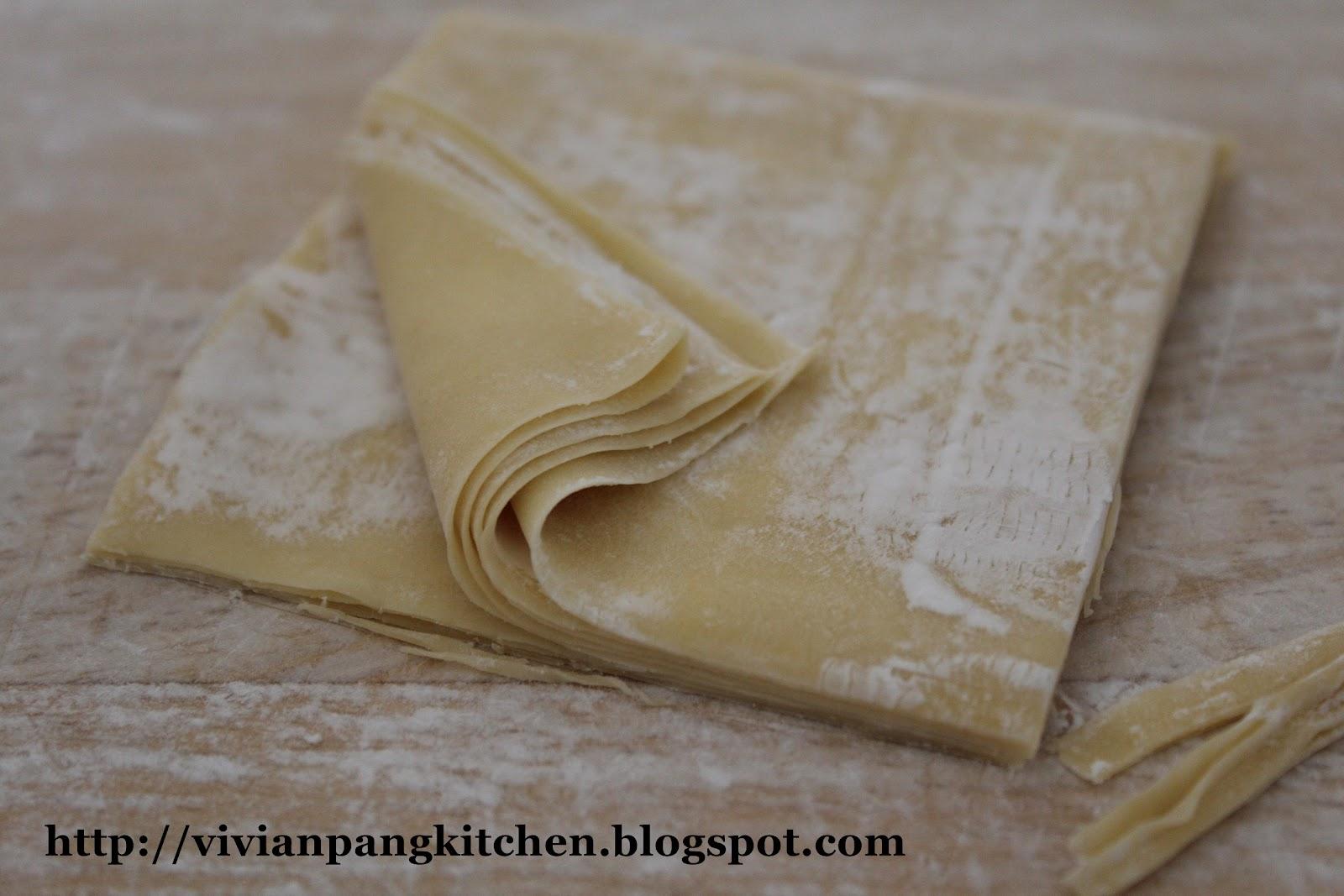 Vivian Pang Kitchen Homemade Wonton Wrapper With Egg 云吞皮