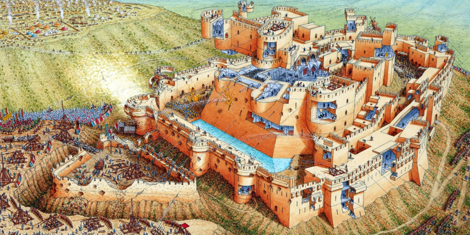 Cross And Cresent The Crusades Krak Also Crac Des Chevaliers