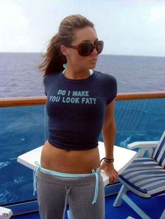 Damn Funny Messages On Girls TShirt