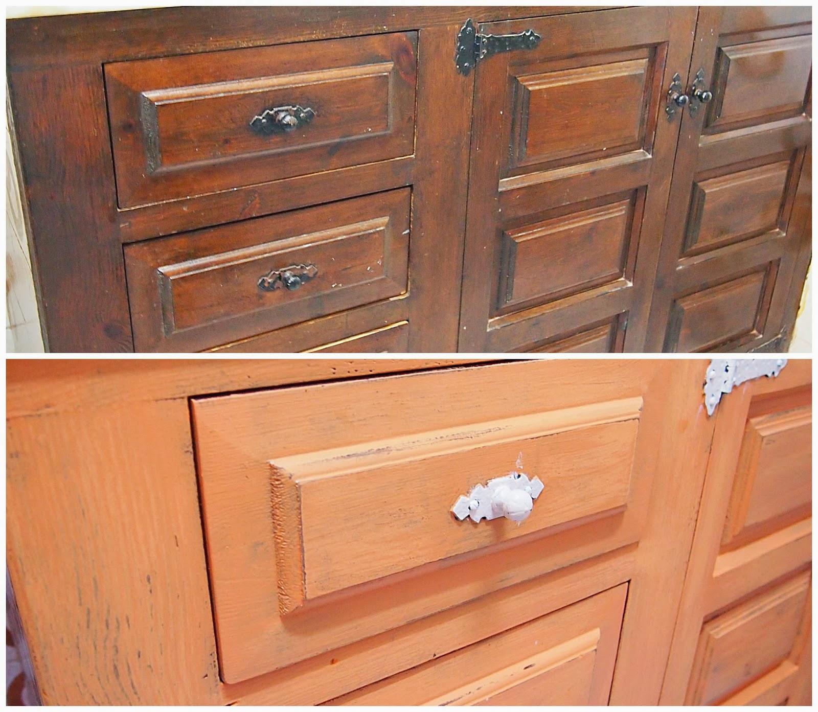 Cambiar color muebles aparador aparador de madera de caoba acabado lacado no decapado cambiar - Cambiar muebles cocina ...