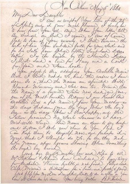B. F. Tisdale letter, belle.tisdale.blogspot.com