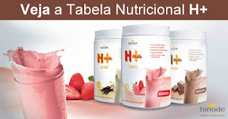 SHAKE H+ HINODE - TABELA NUTRICIONAL