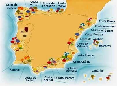 Косте дорада испания на карте