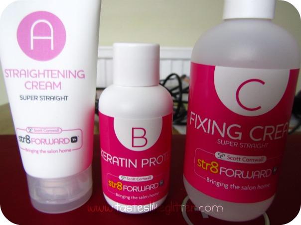 Hair straightening cream for permanent