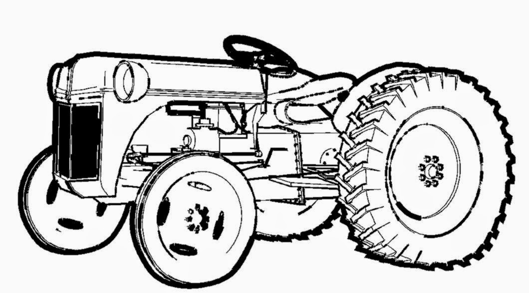 Tractor coloring pictures free coloring pictures for Tractor coloring pages for toddlers