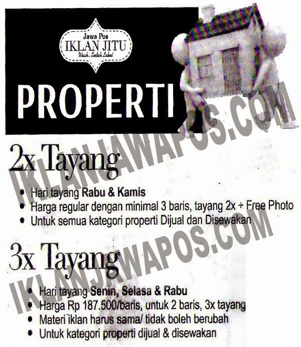 Promo Iklan Baris Jawa Pos Paket Properti 2014