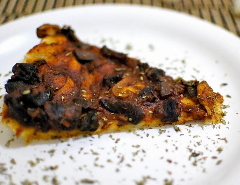 Pizza de Cogumelos Selvagens (vegana)
