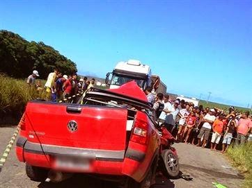 Motorista bate carro em ônibus e morre em rodovia estadual da Grande João Pessoa