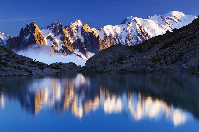 ve may bay di phap gia re - Núi Mont Blanc