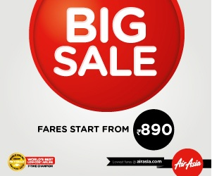 Airasia Big Sale fares start from Rs. 890