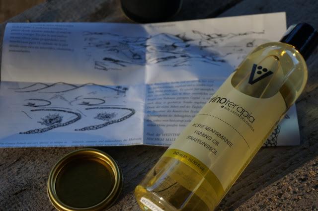 Pachnąca podróż na Wyspy Lanzarotte - ujędrniający olejek do ciała Vinoterapia