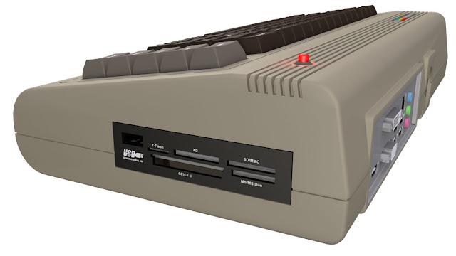 nuovo Commodore 64 - vista lettore schede memoria