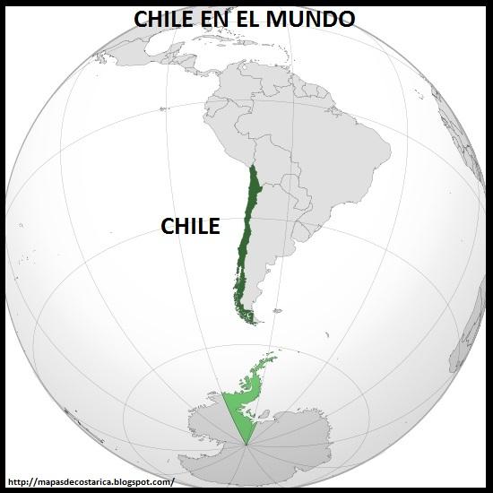 Ubicación de CHILE en El Mundo