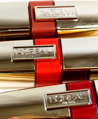 L'Oreal Colour Caresse Wet Shine Stains in 188 Coral Tattoo, 190 Endless Red, and 193 Eternally Nude Review and Swatches