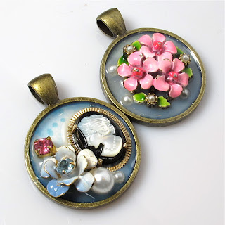 DIYcollage pendants